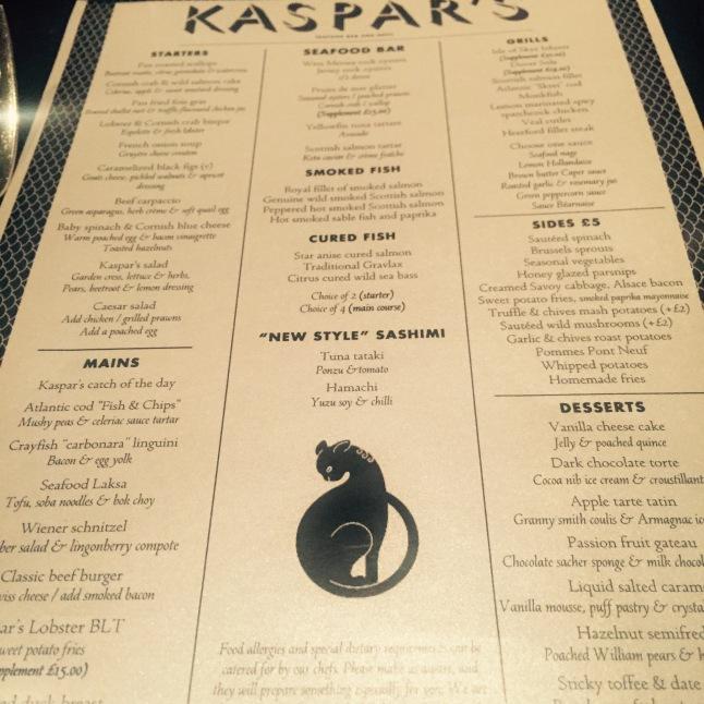 Kaspar's Menu