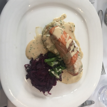 Salmon with Potatoes and Cabbage