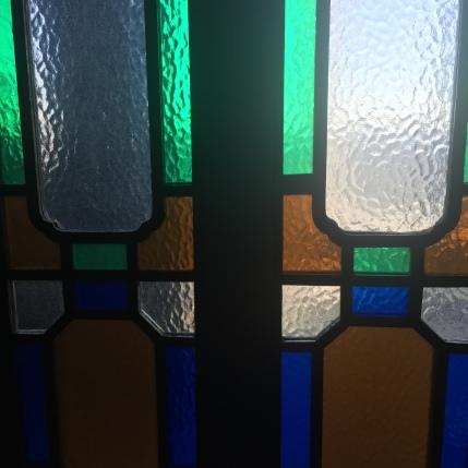 Glass on Toilet Doors