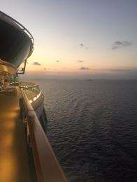 Sunset on the cruise