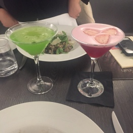 Pink Lady and Japanese Slipper Cocktails