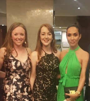 Some of the choir with Myleene Klass