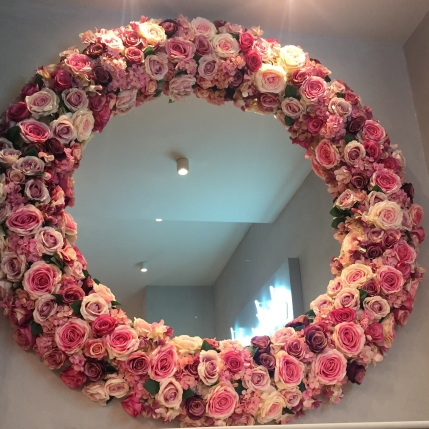 Floral Mirror Decoration