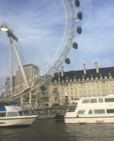 View of the London Eye from the Thames Clipper