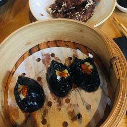 Black Prawn Dumplings and Ribs