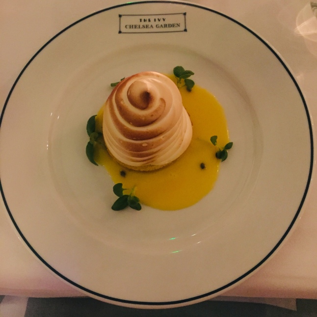 Passion fruit baked Alaska